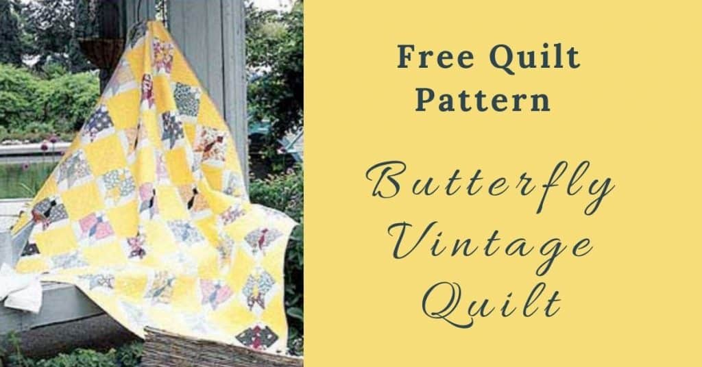 I love Quilting Feature Image_Butterfly Vintage Quilt