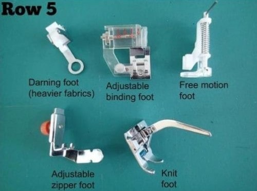 Row 5 in kit uses and guide