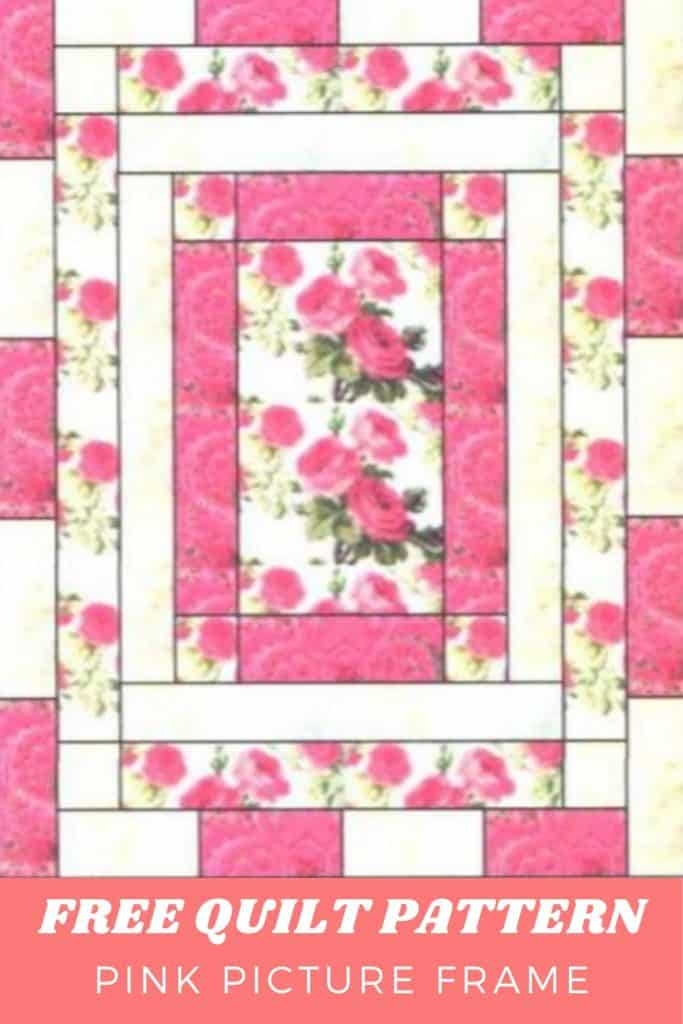 FREE Quilt Pattern Pink Picture Frame - pinterest