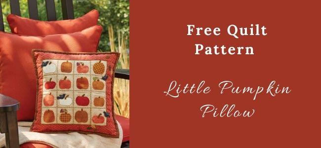 I love Quilting Forever_Little Pumpkin Pillow Quilt