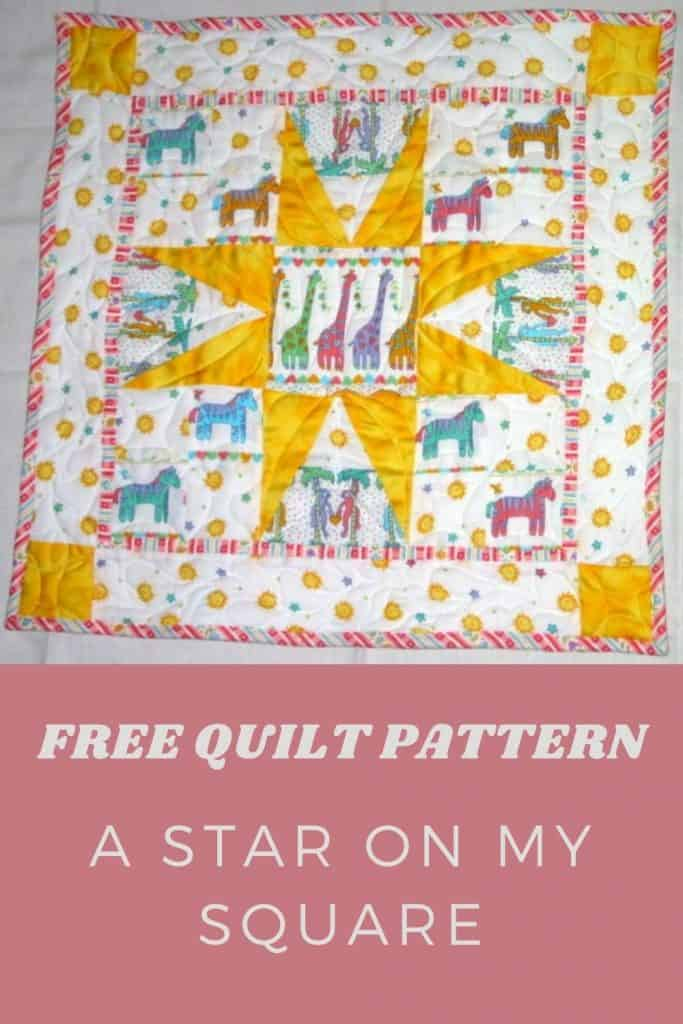 Free Quilt Pattern A Star on my square - pinterest
