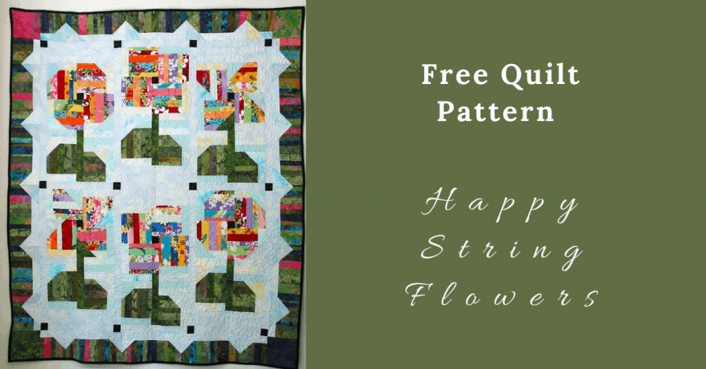 I love Quilting Feature Image_Happy String Flowers Quilt