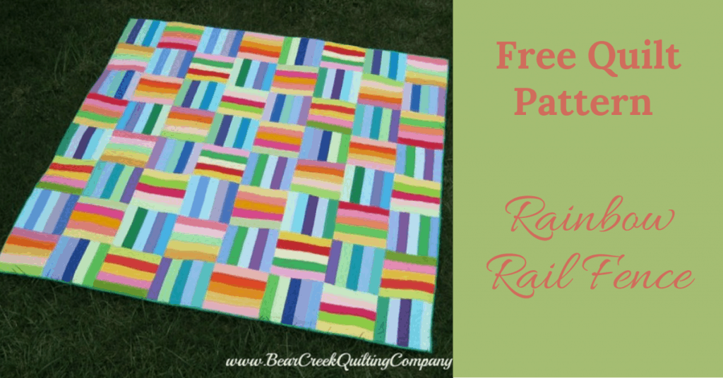 I love Quilting Feature Image_Rainbow Rail Fence Quilt
