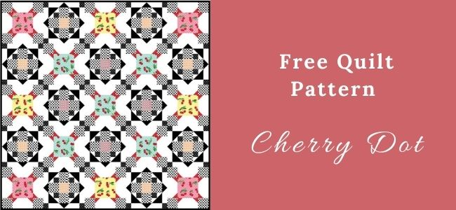 I love Quilting Forever Cherry Dot quilt