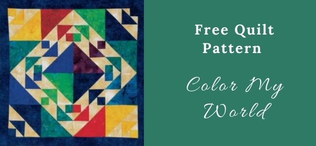 I love Quilting Forever Color My World quilt