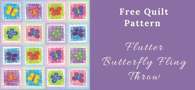 I love Quilting Forever Flutter Butterfly Fling Throw quilt