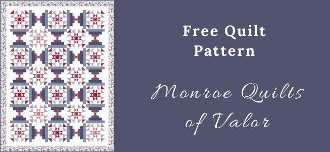 I love Quilting Forever Monroe Quilts of Valor quilt