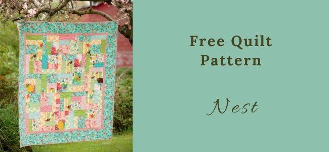 I love Quilting Forever Nest quilt
