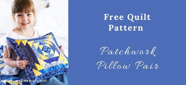 I love Quilting Forever Patchwork Pillow Pair quilt
