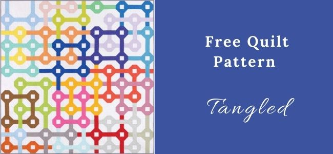 I love Quilting Forever Tangled Quilt