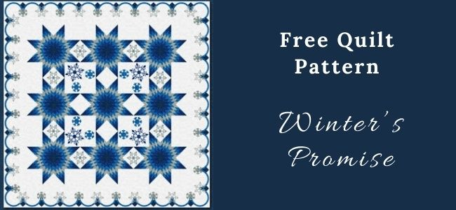 I love Quilting Forever Winter's Promise Quilt
