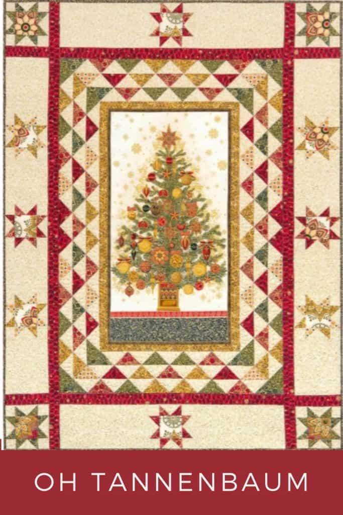 FREE Quilt Pattern_Oh Tannenbaum (Christmas Tree) Pinterest