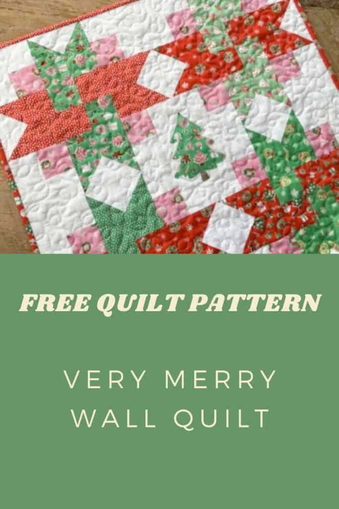 FREE Quilt Pattern_Very Merry Wall Quilt Pinterest