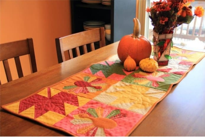 Quilt Table Top Turkey Trot
