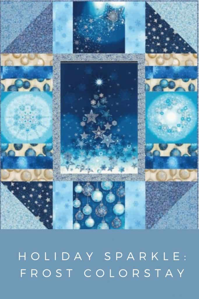 FREE Quilt Pattern_Holiday Sparkle Frost Colorstay Pinterest