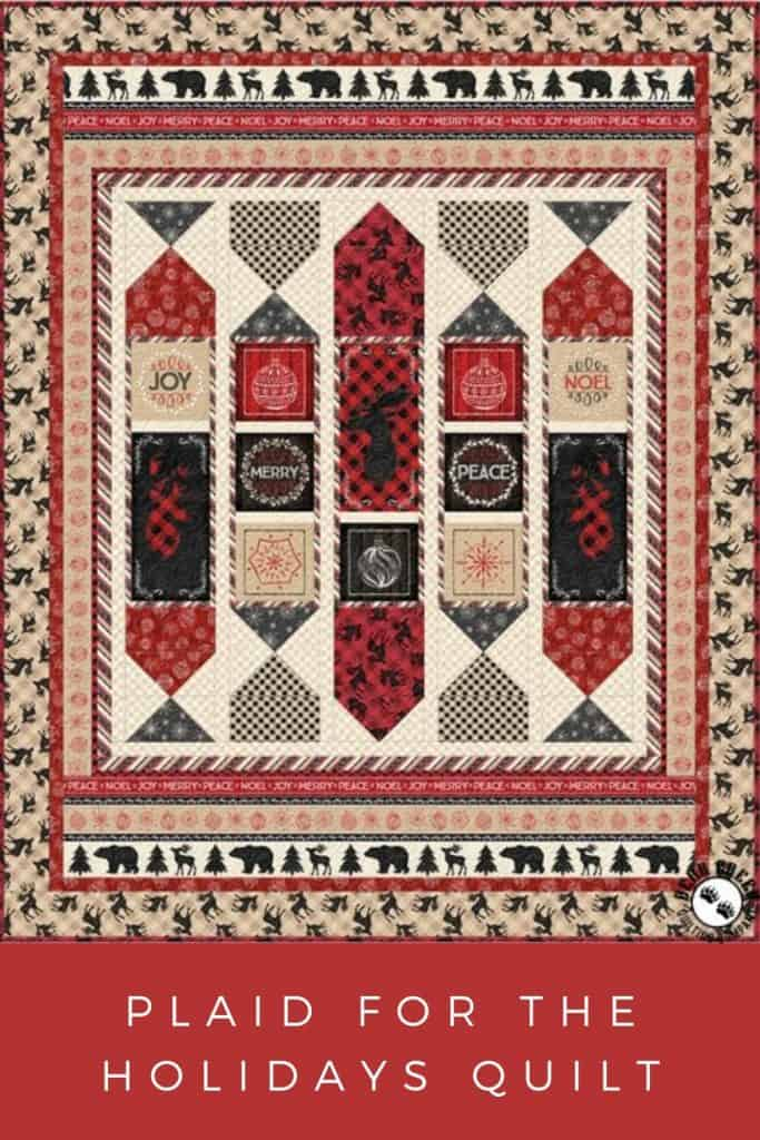 FREE Quilt Pattern_Plaid For The Holidays Pinterest