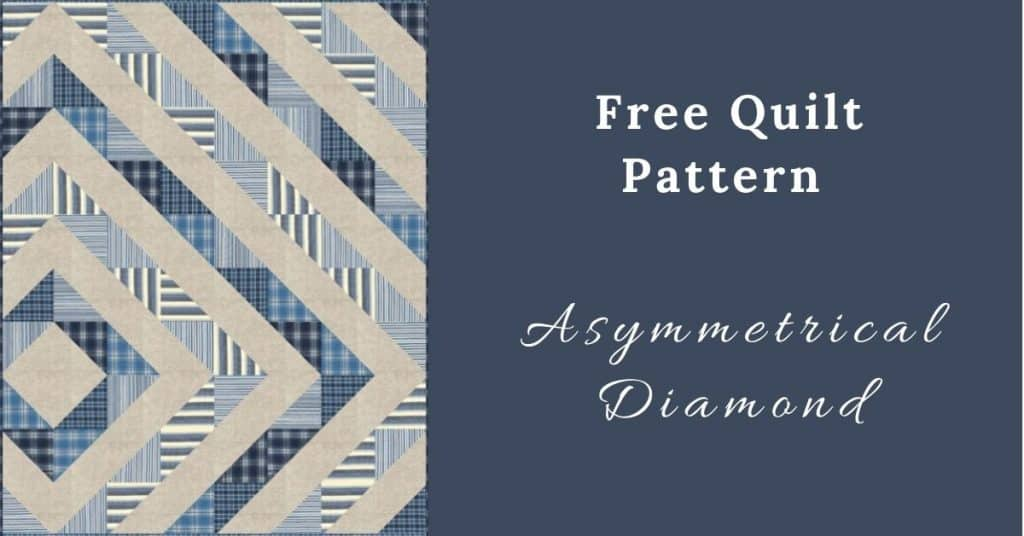 I love Quilting Feature Image_Asymmetrical Diamond Quilt