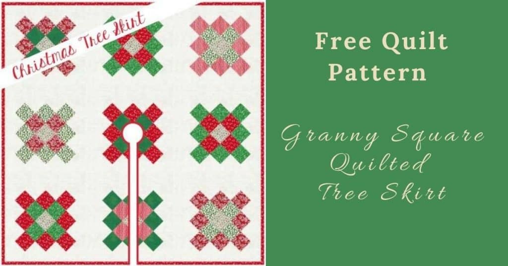 I love Quilting Feature Image_Granny Square Quilted Tree Skirt