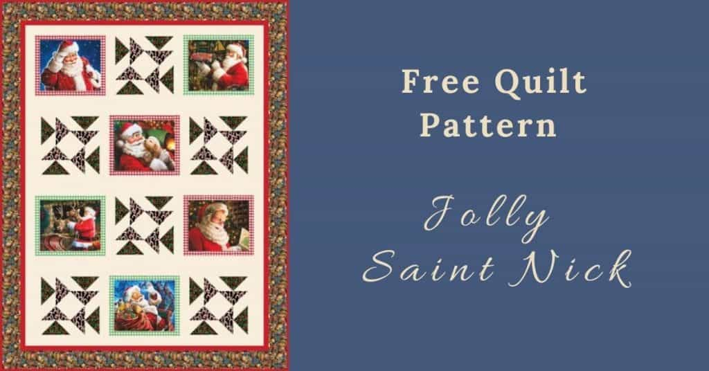 I love Quilting Feature Image_Jolly Saint Nick Quilt