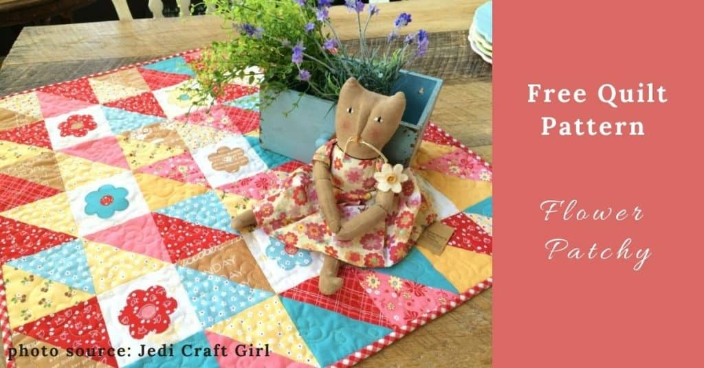 I love Quilting Feature Image_Flower Patchy Quilt