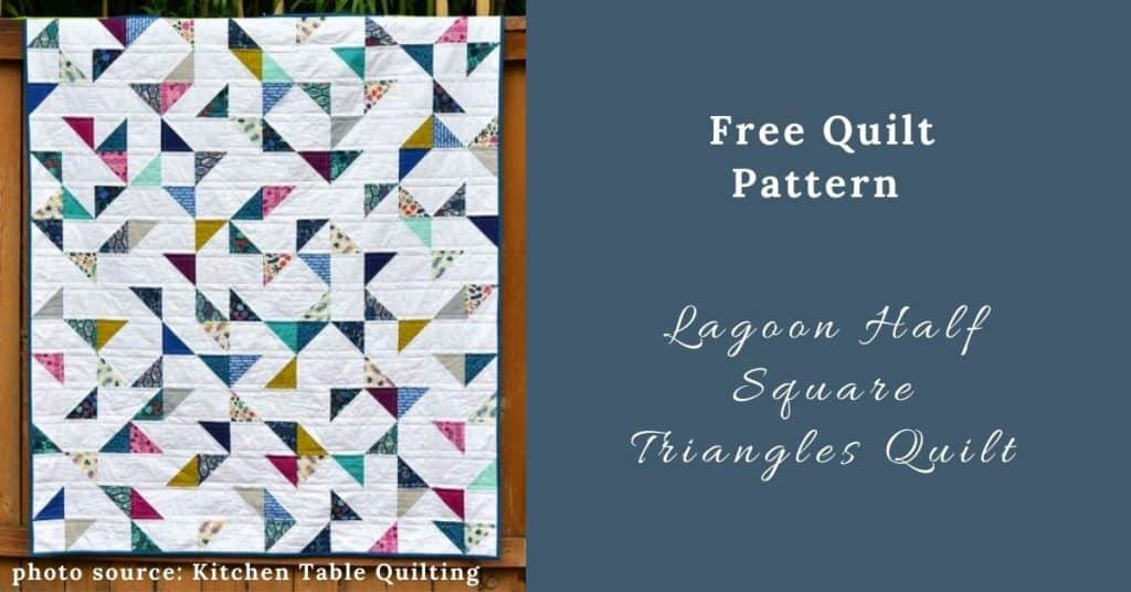 I love Quilting Feature Image_Lagoon Half Square Triangles Quilt