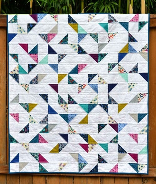Lagoon-Half-Square-Triangles-Quilt