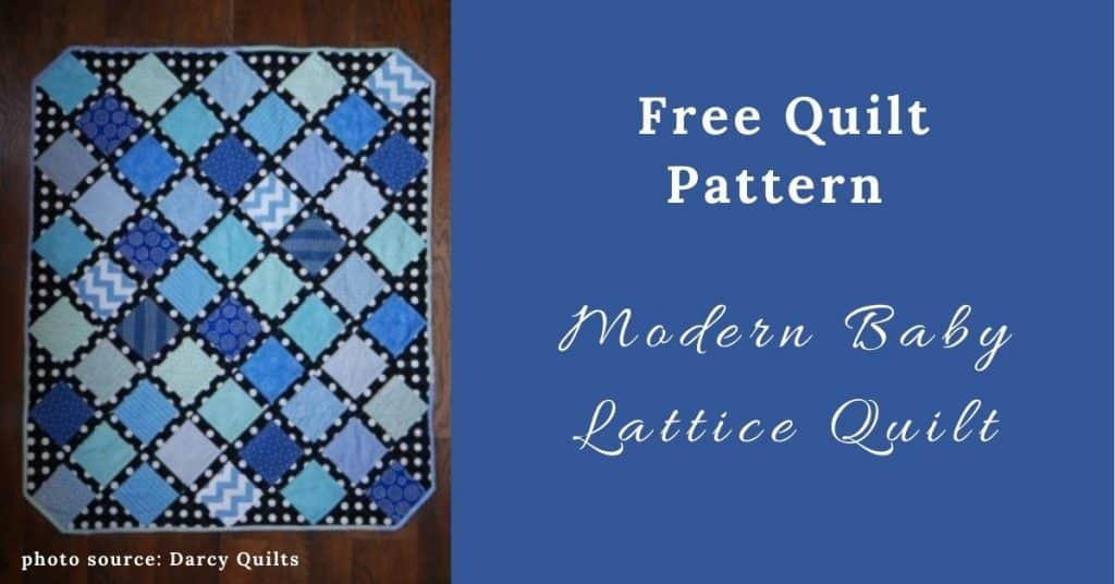 I love Quilting Feature Image_Modern Baby Lattice Quilt