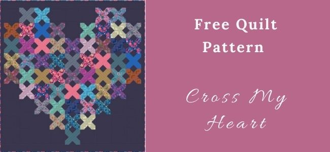 I love Quilting Forever Cross My Heart Quilt