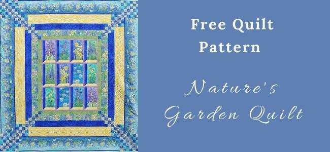 I love Quilting Forever Nature's Garden Quilt