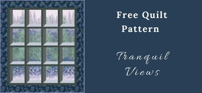 I love Quilting Forever Tranquil Views Quilt