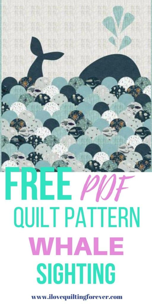 FREE QUILT PATTERN Whale Sighting quilt