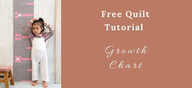 I love Quilting Feature Growth Chart Quilt