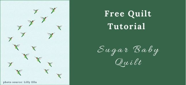 I love Quilting Feature Sugar Baby Quilt