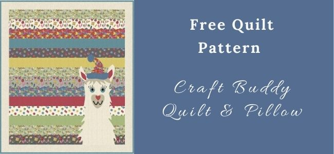 I love Quilting Forever Craft Buddy Quilt & Pillow