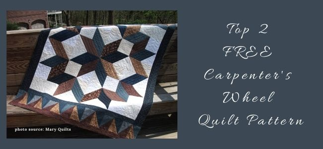 I love Quilting Forever Top 2 Free Carpenter's Wheel Quilt Pattern