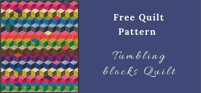 I love Quilting Forever image_Tumbling blocks quilt