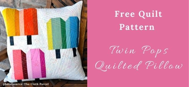 I love Quilting Forever_ Twin Pops Quilted Pillow