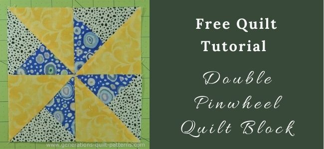 I love Quilting Forever_Double Pinwheel Quilt Block