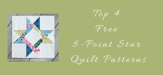 I love Quilting Forever_Top 4 Free 8-point star quilt