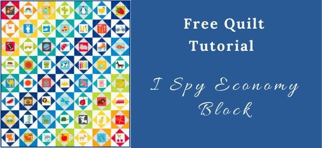 I love Quilting Forever I Spy Economy Block quilt
