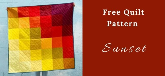 I love Quilting Forever Sunset Quilt