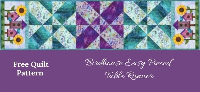 I love Quilting Forever_Birdhouse Easy Pieced Table Runner quilt
