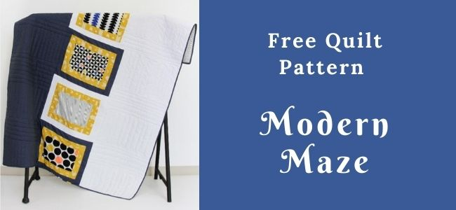 I love Quilting Forever_Modern Maze Quilt