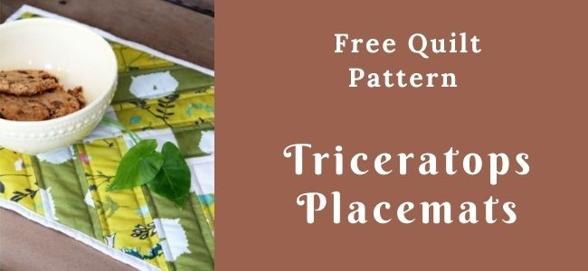 I love Quilting Forever_Triceratops Placemats quilt