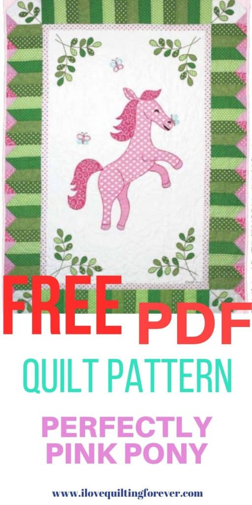 Perfectly Pink Pony quilt