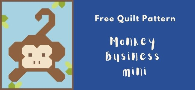 I love Quilting Forever_monkey business mini quilt