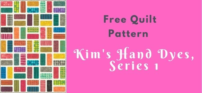 Kim's hand dyes - series 1 quilt