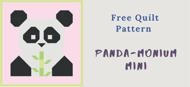 panda-monium mini quilting