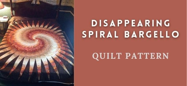 I love Quilting Forever Disappearing Spiral Bargello quilt