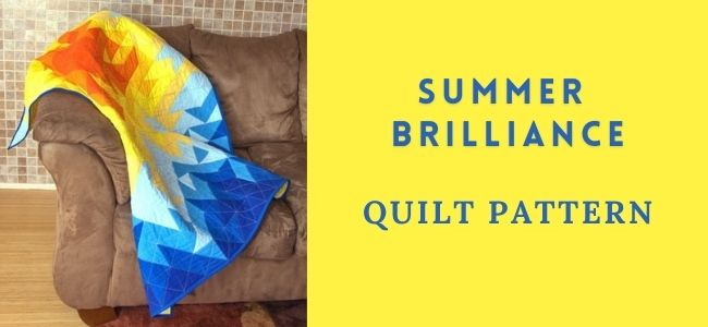 I love Quilting Forever Summer Brilliance quilt